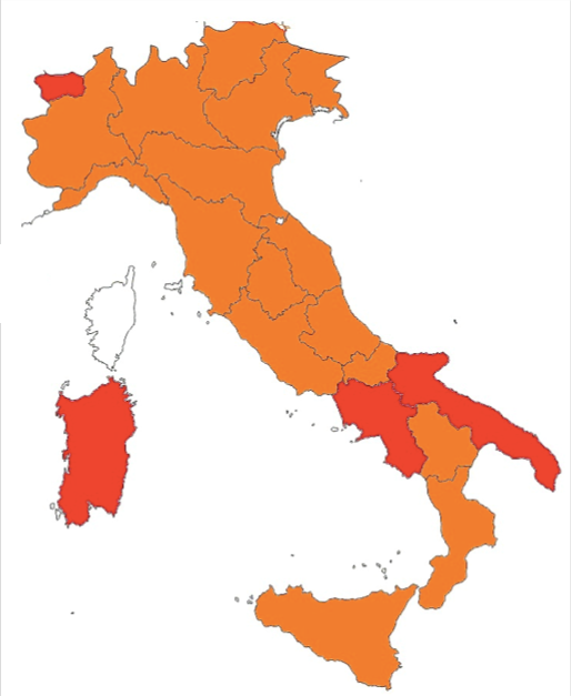Emilia Romagna torna in zona arancione